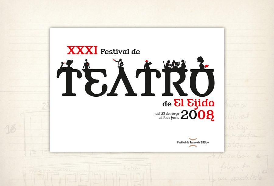 Imagen gráfica. Cartel ganador del concurso del Festival de Teatro de El Ejido