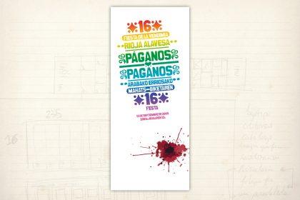 Imagen gráfica. Cartel presentado al concurso de carteles de la Fiesta de la Vendimia. Rioja Alavesa