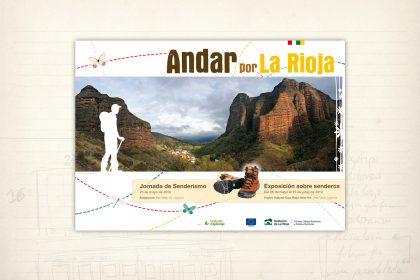 Imagen gráfica. Exposición y jornada sobre senderismo. Gobierno de La Rioja