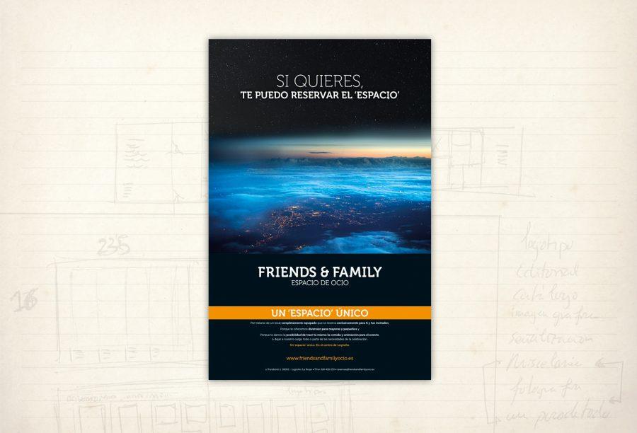Imagen gráfica. Friends and Family. Espacio de Ocio