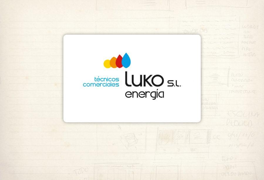 Logotipo. Luko energía. Soporte comercial en materia de energía