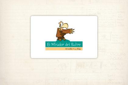 Logotipo. El Mirador del Buitre. Mancomunidad Dinatur. Espacio para contemplar buitres leonados en su hábitat natural