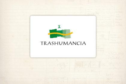 Logotipo. Trashumancia. Fundación Caja Rioja. Programa europeo de itinerario cultural