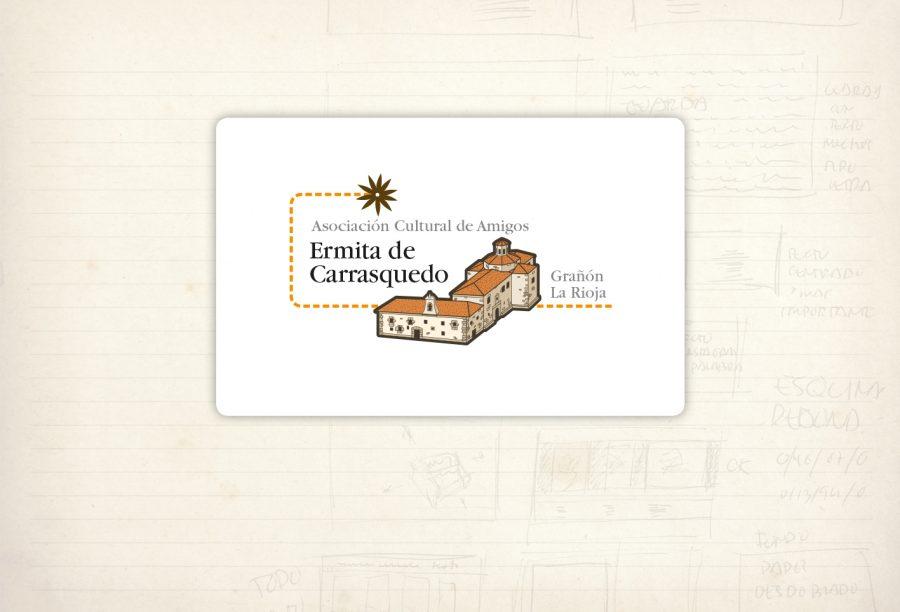 Logotipo. Ermita de Carrasquedo. Asociación cultural. Grañón