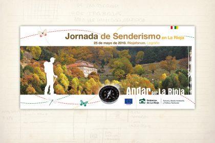 Folleto. Exposición. Andar por La Rioja. Gobierno de La Rioja