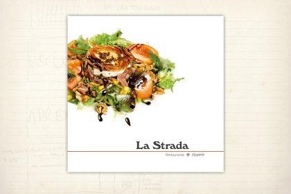 Carta cafetería La Strada. Santo Domingoo de La Calzada
