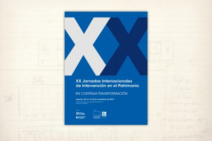 imagen gráfica. XX Jornadas Internacionales de Intervención en el Patrimonio. Colegio Oficial de Arquitectos de La Rioja. COAR