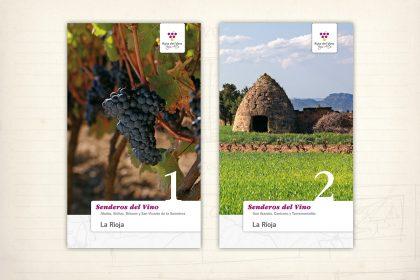 Diseño editorial. Guías de turismo. Senderos del vino. Ruta del vino Rioja Alta
