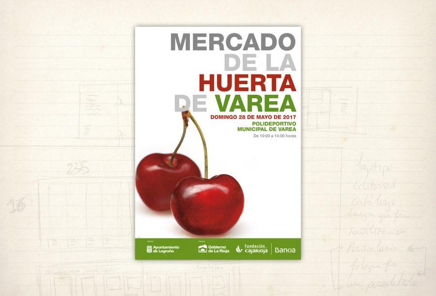 Imagen gráfica. Mercado de la Huerta de Varea. Fundación Caja Rioja
