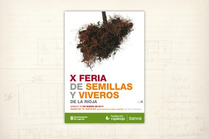 Imagen gráfica. Feria de Semillas y viveros. Fundación Caja Rioja