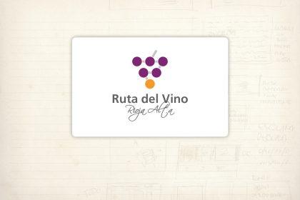 Logotipo. Ruta del Vino. Mancomunidades Rioja Alta. Itinerarios y recorridos enoturísticos