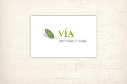 Logotipo. Vía, Medioambiente y Cultura. Desarrollo de proyectos relacionados con el medio ambiente y la cultura
