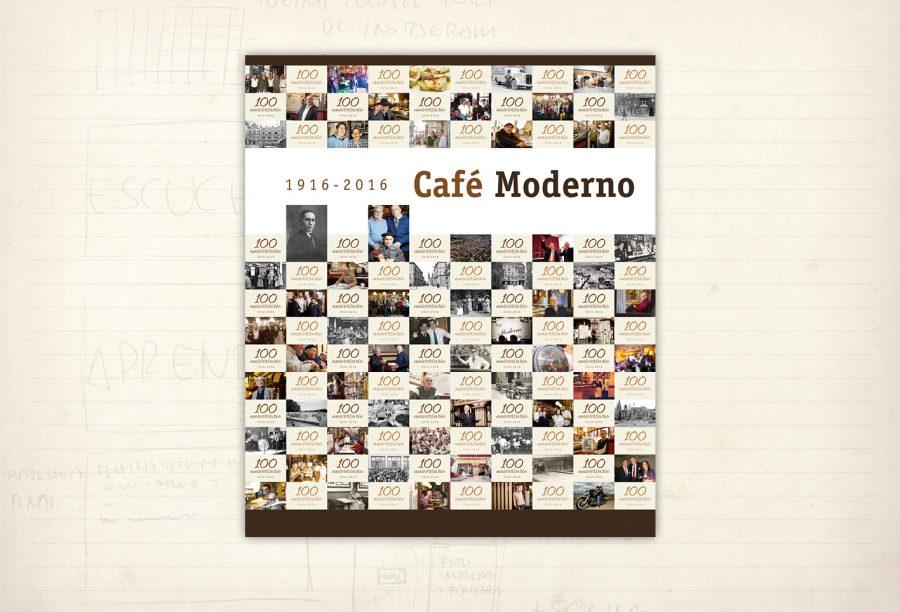 Photocall 100 aniversario. Café Moderno