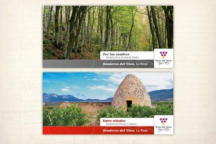 Folletos Senderos del Vino. Mancomunidad de Ábalos, Briones y San Vicente de La Sonsierra