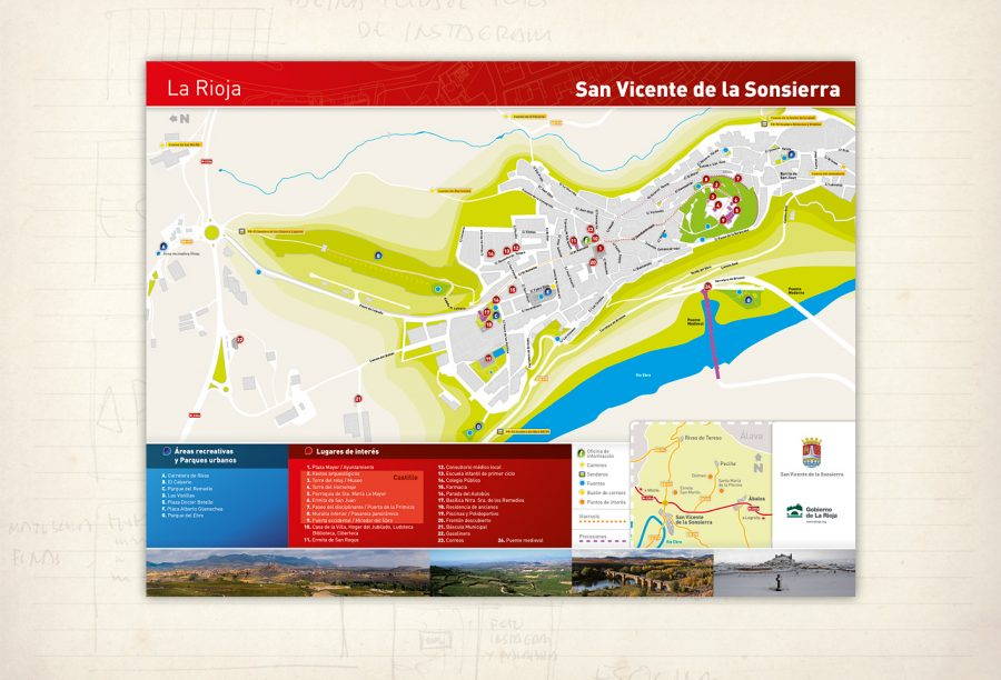 Folleto. Mapa turístico de San Vicente de la Sonsierra