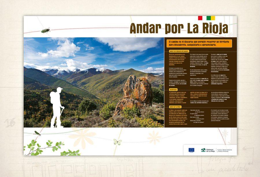Exposición. Andar por La Rioja. Senderismo. Gobierno de La Rioja