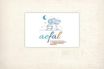 logotipos. aefal. asociación española de familias afectadas por lipofuscinosis ceroidea