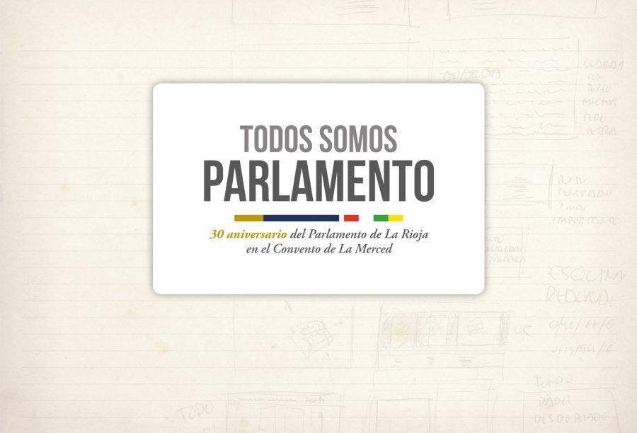 logotipo. Todos somos Parlamento. Parlamento de La Rioja