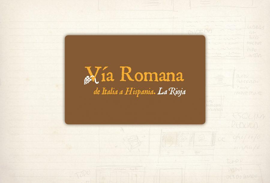 logotipo Vía Romana en La Rioja. Paseo. Senderismo por la Vía Romana