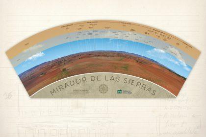 señalización medioambiental. Panel Villaverde. La Rioja. Mirador de las sierras